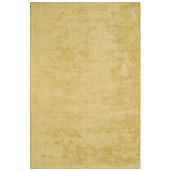Debenhams - Yellow woollen 'Aran' rug