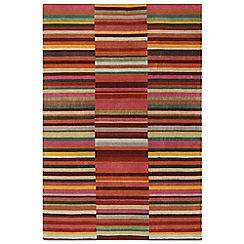 Debenhams - Red wool 'Luca' rug