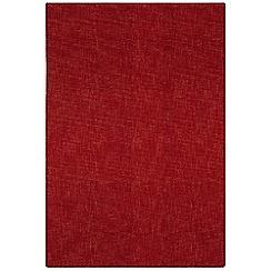 Debenhams - Red wool 'Tweed' rug