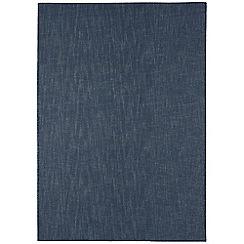 Debenhams - Dark blue wool 'Tweed' rug