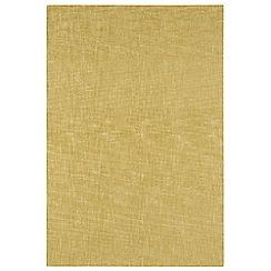 Debenhams Yellow wool 'Tweed' rug
