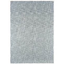 Debenhams Silver grey wool 'Tweed' rug