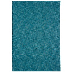 Debenhams - Teal wool 'Tweed' rug