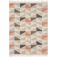 Debenhams Orange wool 'Geo Kelim' rug