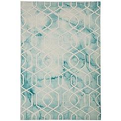 Debenhams - Light blue wool 'Fresco Trellis' rug