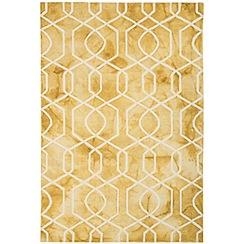 Debenhams - Yellow wool 'Fresco Trellis' rug