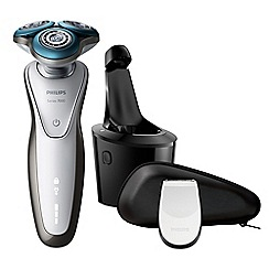 Philips - White 'Rotary Series 7000' wet and dry electric shaver - S7710/26