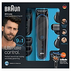 Braun - 9 in 1 head to toe trimming kit - MGK3080
