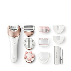 Philips - White and rose gold 'Satinelle Prestige' wet and dry epilator BRE651/00
