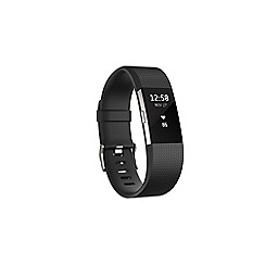 Fitbit - Black 'Charge 2' HR wireless activity and heart rate tracker FB407SBKL-EU