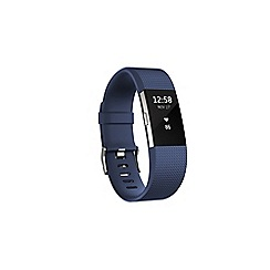 Fitbit - Blue 'Charge 2' HR wireless activity and heart rate tracker FB407SBUL-EU