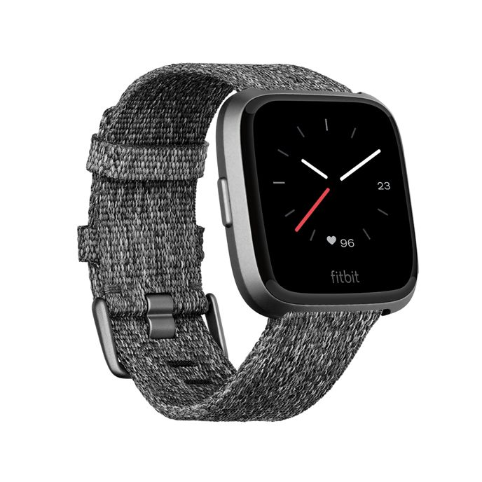 Fitbit - Special edition charcoal 'Versa' woven fitness smart watch 200480