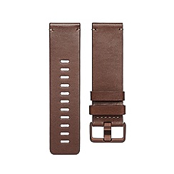 Fitbit - Cognac 'Versa' leather band 200483