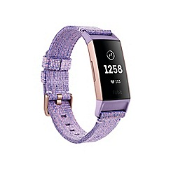 Fitbit - Lavender Woven 'Charge 3' Advanced Health and Fitness Tracker 208506