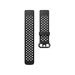 Fitbit - Black Large 'Charge 3' Sports Band 208509