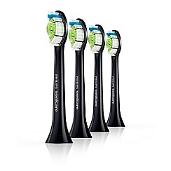Philips - Set of 4 black 'Sonicare DiamondClean' standard toothbrush heads