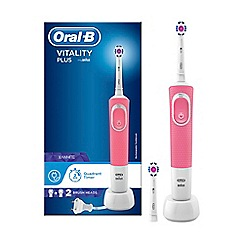 Oral-B - Pink 'Vitality Plus' 3D White Electric Rechargeable Toothbrush D100.423.1