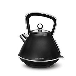 Morphy Richards - Black 'Evoke' 1.5L pyramid kettle 100105