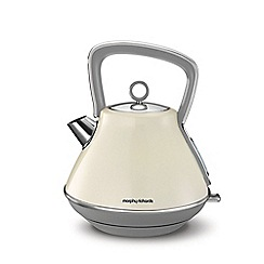 Morphy Richards - Cream 'Evoke' 1.5L pyramid kettle 100107
