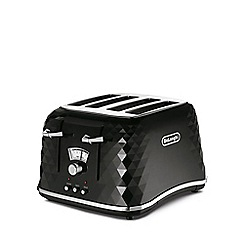 DeLonghi - Black 'Brillante' 4 slice toaster CTJ4003.BK