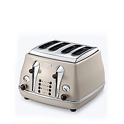 DeLonghi - Cream 'Icona' 4 slice toaster CTOV4003.BG