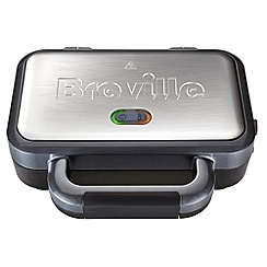 Breville - Deep fill silver sandwich toaster VST041