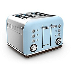 Morphy Richards - Azur special edition 'Retro Accents' 4 slice toaster 242100