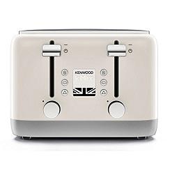 Kenwood - Cream 'Kmix' 4 slice toaster TFX750CR