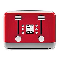 Kenwood - Red 'Kmix' 4 slice toaster TFX750RD