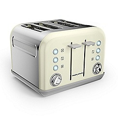 Morphy Richards - Ivory cream 'Accents' 4 slice toaster 242035
