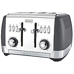 Breville - Matte grey 'Strata' 4 slice toaster VTT764