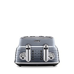 DeLonghi - Grey gloss finish 'Scultura' 4 slice toaster CTZ4003.GY