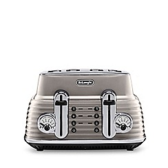 DeLonghi - Gold gloss finish 'Scultura' 4 slice toaster CTZ4003.BG