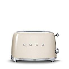 Smeg - Cream 2 slice toaster TSF01CRUK