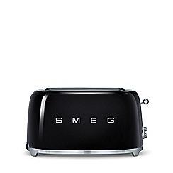 Smeg - Black 4 slice toaster TSF02BLUK