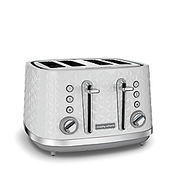 Morphy Richards - White 'Vector' 4 slice toaster 248134