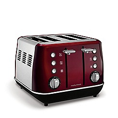 Morphy Richards - Red 'Evoke' 4 slice toaster 240108