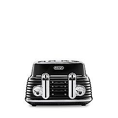 DeLonghi - Black 'Scultura' 4 slice toaster CTZ4003.BK