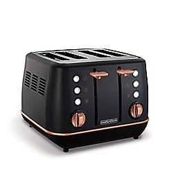 Morphy Richards - Black and rose gold 'Evoke' 4 slice toaster 240114