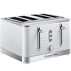 Russell Hobbs - White 'Inspire' 4 slice toaster 24380