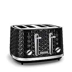 Morphy Richards - Black 'Vector' 4 slice toaster 248131