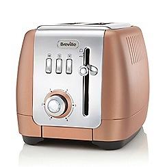 Breville - Rose gold 'Strata Luminere' 2 slice toaster VTT845