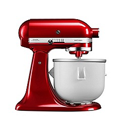 KitchenAid - White ice cream maker stand mixer attachment KICA