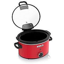 Crock-Pot - Red hinged lid slow cooker CSC037