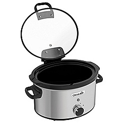 Crock-Pot - Stainless steel hinged lid 3.5L slow cooker - CSC044