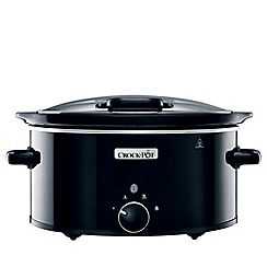 Crock-Pot - Black hinged lid slow cooker CSC031