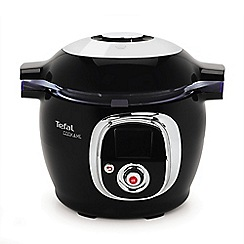 Tefal - Black and chrome 'Cook4Me' digital cooker CY701840
