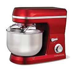 Morphy Richards - Red 'Accents' stand food mixer 400010
