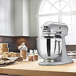 KitchenAid - Metallic Chrome 'Artisan' Food Mixer 5KSM150PSBMC