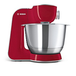Bosch - Red stainless steel 'Kitchen Machine' stand mixer MUM58720GB